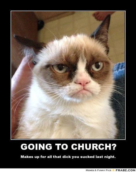 New Grumpy Cat Memes - going to church grumpy cat meme generator posterizer