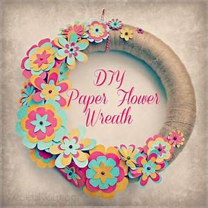 Easy, Diy, Paper, Flower, Wreath