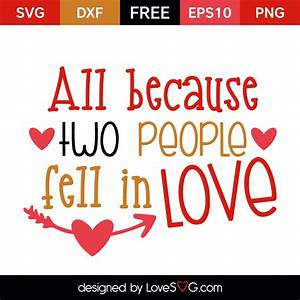 All because of ... Lovesvg