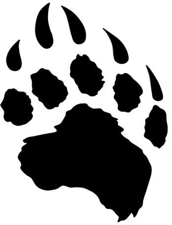Native american indian symbol clipart in color bear claw 3