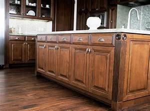 Kitchen, U0026, Bar, Mocha, Distressed, Kitchen, Cabinets, For, Traditional, Kitchen, Decor