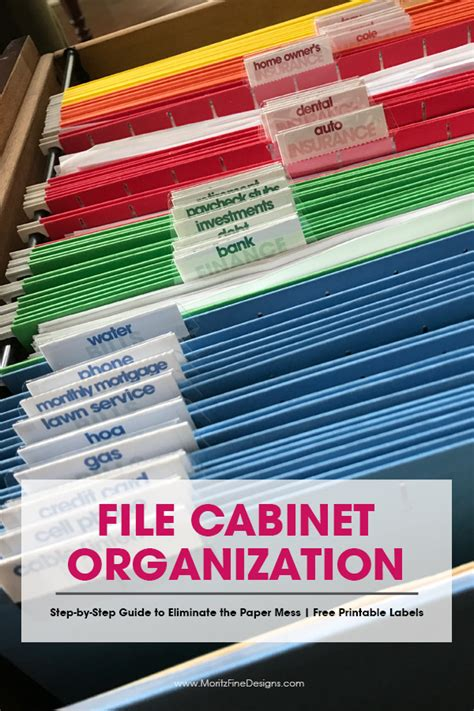 how to organize your file cabinet simple steps to get your file cabinet organized with free