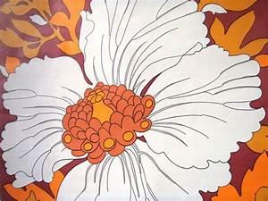 Papier Peint Grosses Fleurs : papier peint tapisserie vintage grosses fleurs muros ~ Dode.kayakingforconservation.com Idées de Décoration