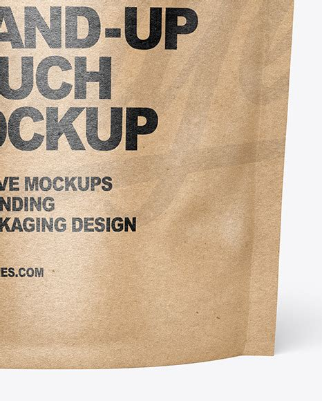 Psd file consists of smart object. Kraft Paper Stand-up Pouch Mockup in Pouch Mockups on ...