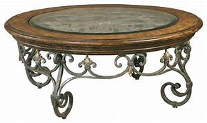 9 inspirations of wood and wrought iron round coffee table With round wood and iron coffee table