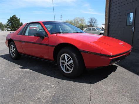 Pontiac Fiero Se by 1985 Pontiac Fiero Se One Owner From New 25 344