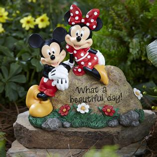 disney garden rock mickey  minnie limited