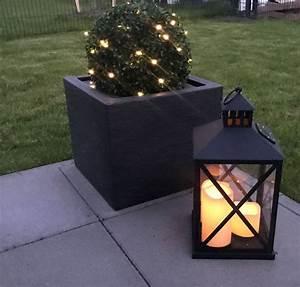Solar Laterne Groß : led solar laterne 41cm schwarz aussenleuchte 3 led ~ Watch28wear.com Haus und Dekorationen