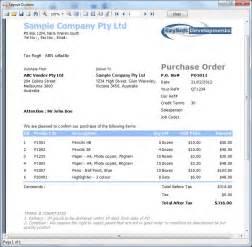 Sample Purchase Order