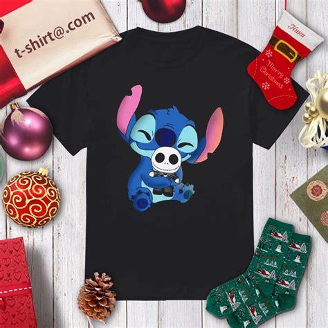 Stitch hug Jack Skellington shirt, hoodie, sweater and v ...