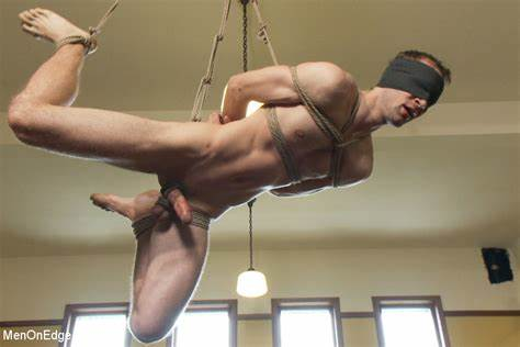 Condom Drilling Of Blindfolded Male Fit Shackled Hubby Knows Up And Cameltoe