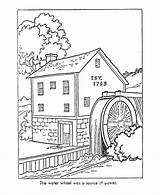 Coloring Early Watermill Colonial Mill America Printable Sheets Drawing Grist Colouring Worksheets Colour Drawings Paper Trades 820px 49kb Toys Adult sketch template
