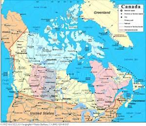 Canada Political Map Printable