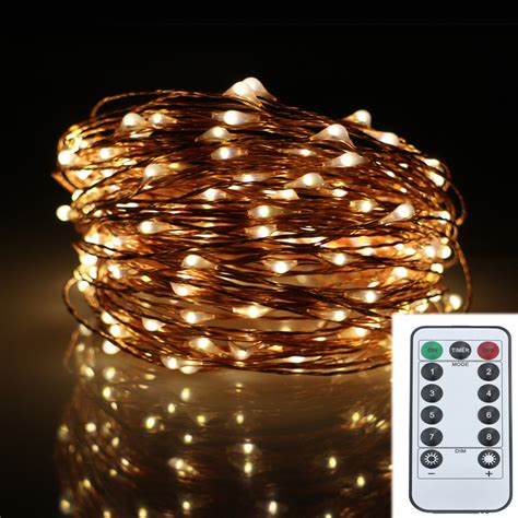 battery operated outdoor fairy lights 20m 200led 8modes copper wire battery operated led string