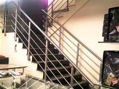 Staircase Ss Railing Design by Stainless Steel Stair Railings Aakruti Fabrication