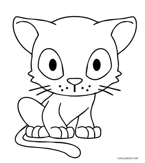 printable cat coloring pages  kids coolbkids