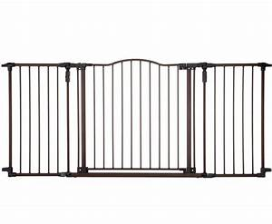 baby safety gate w door extra wide metal expandable walk With extra wide dog gates