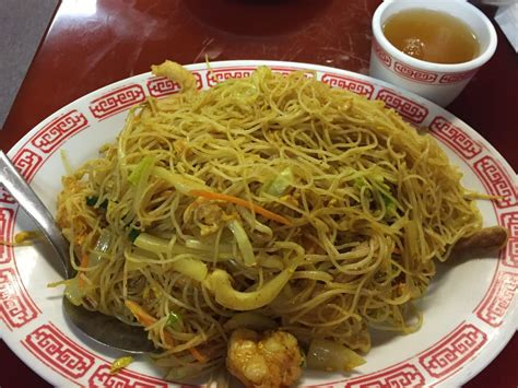 golden house cheyenne singappore pad mei glass rice noodle with curry shrimp
