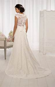 cherrymarry wedding dresses bridal gowns bridal With lace wedding dresses with cap sleeves