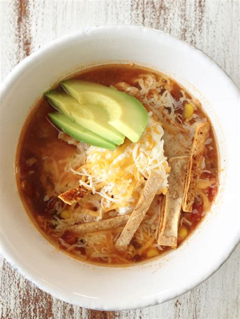 crock pot tortilla soup healthified crock pot chicken tortilla soup the skinny fork