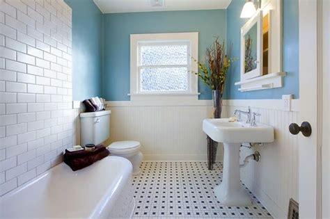 Tile Floor With Bead Board  Subway Tile Bathroom