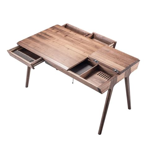 bureau design bois metis bureau design en bois avec tiroirs et