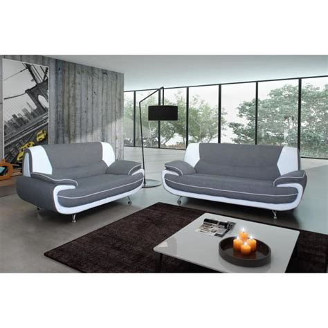canapé cuir discount spacio ensemble canapés en simili 3 2 places 162x86x88