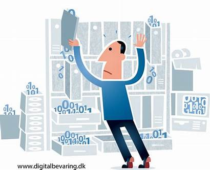 Data Storage Organisation Services Four Tips Cartoon