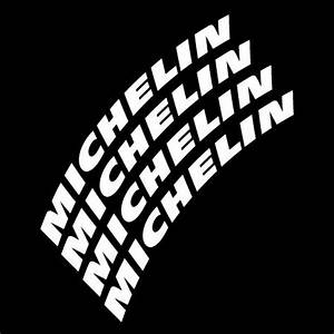 michelin lettering With white letter tire stickers