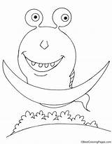 Ufo Riding Alien Coloring Pages sketch template