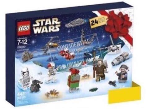 leaked lego star wars advent calendar releasing september