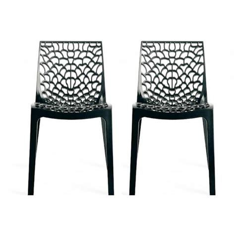 lot de 2 chaises design anthracite gruyer achat vente