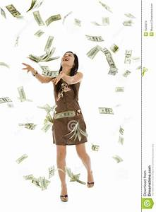 Pretty Woman Throwing Money Stock Image - Image: 15220213