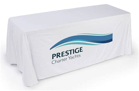 Table Drape With Logo - logo table cover is for exhibition colors sizes