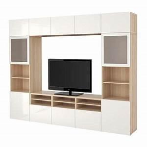 Besta Tv Schrank : best schrank tv kombinierte glast r eine eiche gebleicht gl nzend selsviken wei en ~ Watch28wear.com Haus und Dekorationen