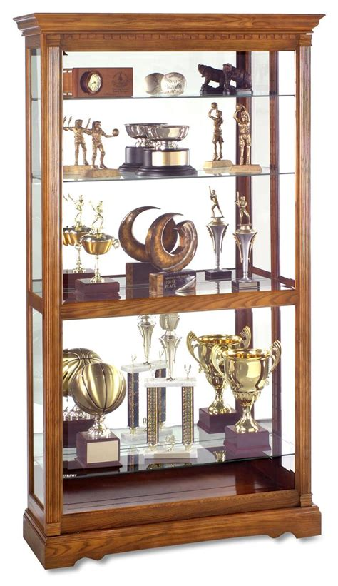 locking curio cabinet this display cabinet is an oak wood showcase for 3835