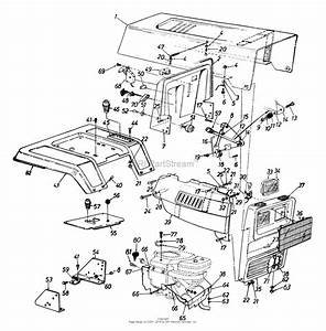 Mtd 144q848h062  1994  Parts Diagram For Hood Style 8