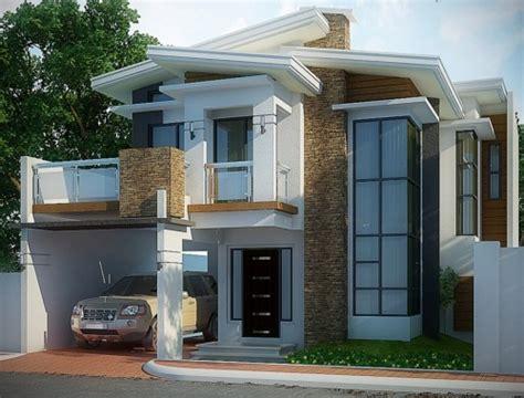 gambar tampak depan rumah minimalis  lantai modern