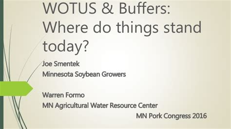 what does bsc stand for warren formo joe smentek water regulations update