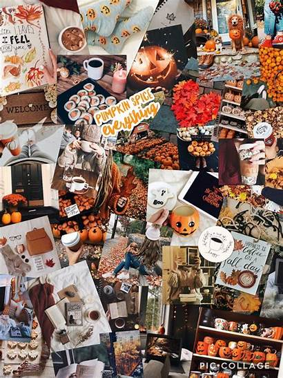 Aesthetic Fall Collage Vsco Halloween Backgrounds October