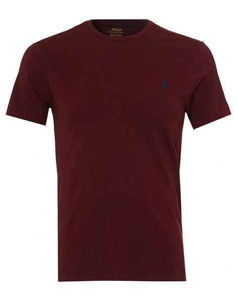 burgundy t shirt s ralph mens plain t shirt burgundy sleeve