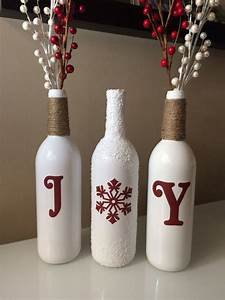 25, Christmas, Decoration, Ideas, With, Wine, Bottles