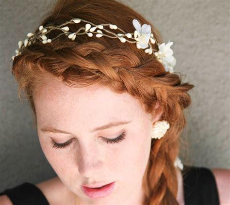 hand  wedding hair rustic bridal wreath  flowers