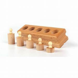 Montessori Toddler Knobbed Cylinders (Set of Four) - Jolly