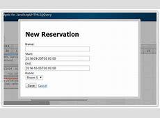 HTML5 Hotel Room Booking JavaScriptPHPMySQL DayPilot