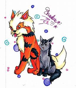 Arcanine and Mightyena by bshadow93 on DeviantArt