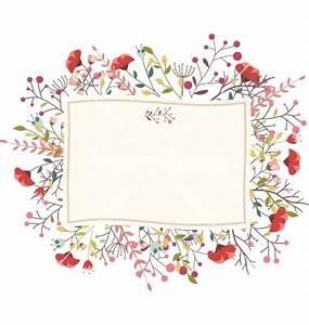 retro flower for wedding invitation frame vector by With wedding invitations with flowers vintage frame