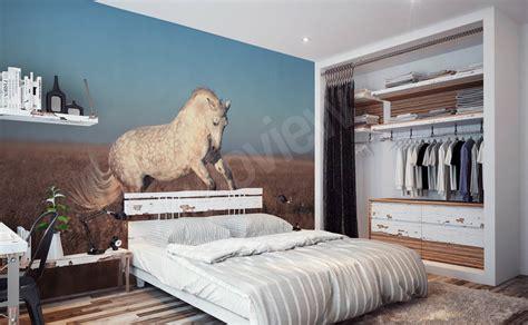tapisserie chambre ado papiers peints chevaux mur aux dimensions myloview fr