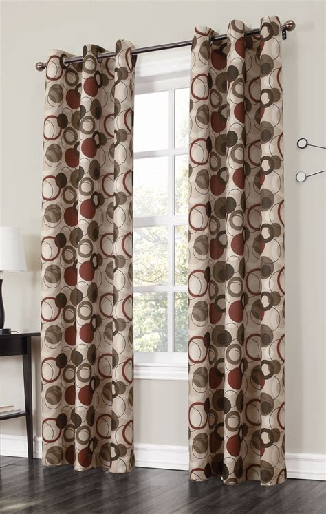 the jupiter grommet curtains has a large scaled multi