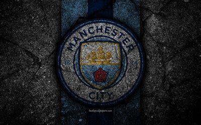Download wallpapers Manchester City FC, 4k, logo, Premier ...